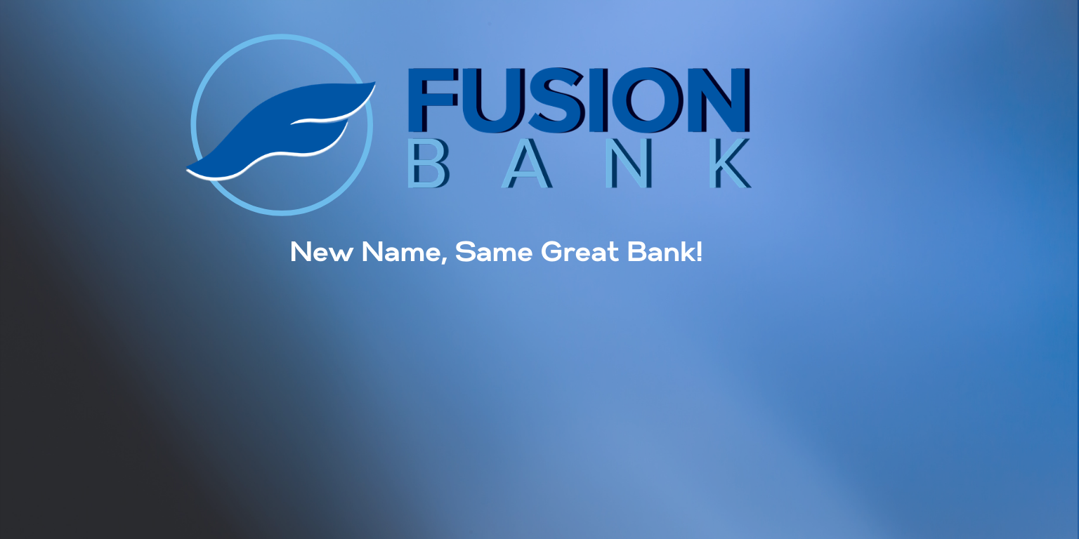 New Name, Same Great Bank
